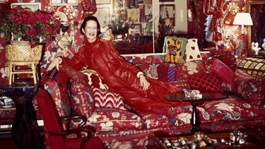 Well red ... Diana Vreeland, in a scene from the film about her colourful life, challenged her magazine readers to look past conventions.