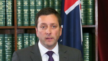 Opposition Leader Matthew Guy attended a lobster dinner in April where Mr Madafferi was present.