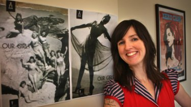 Madeleine Hamilton, the author of Our Girls - a new book detailing the Australian pin-ups of the 1940s and 1950s.