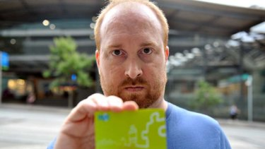 Toby Nieboer's myki card has failed four times in 18 months.