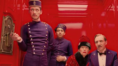 Amid the deadpan humour, sly cinematic references, gorgeous use of colour and texture, there is a certain darkness to <i>Grand Budapest Hotel</i>.