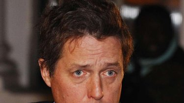 Hitting out ... actor Hugh Grant.