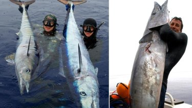 The big wahoo catches ended up feeding an entire remote village, Jaga Crossingham said.