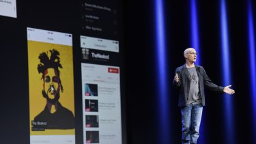 Jimmy Iovine, co-founder of Beats Electronics,introduces Apple Music at WWDC 2015.