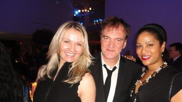 Hobnobbing: Odetta Medich with Quentin Tarantino.