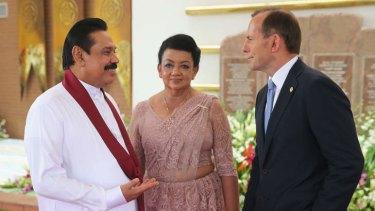 Australia must look beyond short-term complications of its relationship with Sri Lanka: Prime Minister Tony Abbott with President Mahinda Rajapaksa of Sri Lanka.