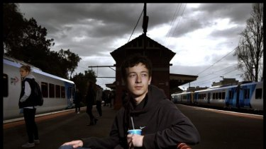 Lionel Bersee was attacked by three youths at a station in Melbourne's inner west.