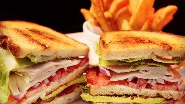 Fog sandwich from Fog Bar and Cafe in Prahran.