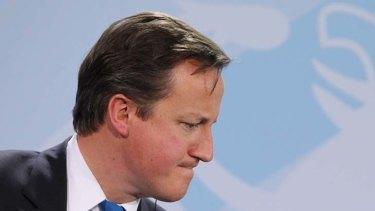 New mortage plan ... British Prime Minister David Cameron.