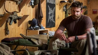 Fleshed-out role: Bradley Cooper piled on the beef to play Navy SEAL sniper Chris Kyle in Clint Eastwood's <i>American Sniper</i>.