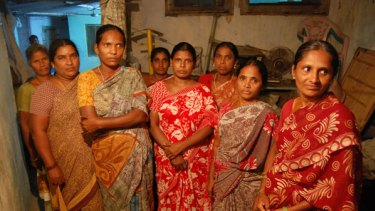 Some of the Warangal women who are burdened with debts.