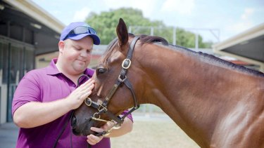 Nathan Tinkler with a horse from his stables at the 2010 Magic Millions: