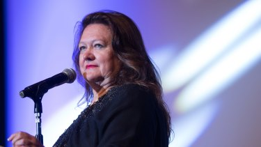 Gina Rinehart is part of a coal joint venture in Queensland with India's GVK.