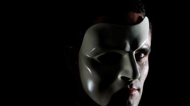 Ben Lewis as the phantom in Love Never Dies.