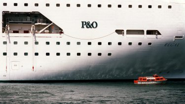 Mark O'Keefe had to find his own way home after being taken off the P&O ship.