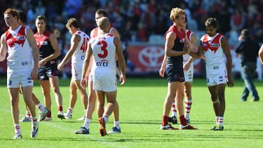 Stunned Demons and Swans after the draw.