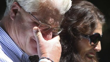 Heartbroken ... James Foley's parents, John and Diane Foley, address the media after the death of their son.