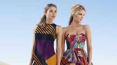 Jessica Hart and Jennifer Hawkins in Myer's latest campaign.