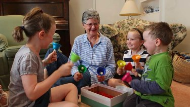 Grandmother ... Judy Payne with Eleanor, 9, Adelaide, 7, and Henry, 4.
