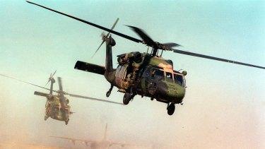 Blackhawks in action in East Timor.