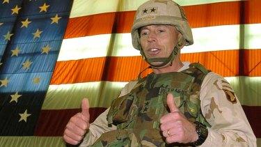 Major-General David Petraeus on active duty in Iraq in 2004.