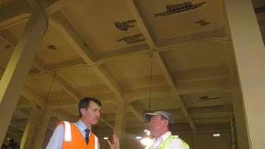Lord Mayor Graham Quirk discusses damage to the Story Bridge.