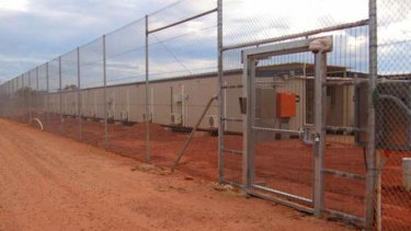 Curtin Immigration Detention Centre, where the first of 157 Tamil asylum seekers arrived on Sunday.