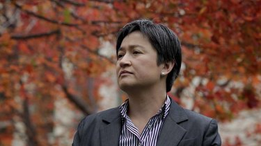 Unimpressed: Finance minister Penny Wong's reaction to Tony Abbott's proposals.