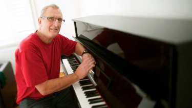 Learning the piano has helped Graeme Holdsworth recover.