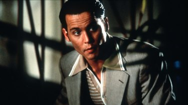 Johnny Depp in the film Donnie Brasco.