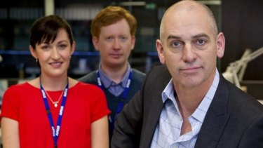 <i>Utopia</i> cast includes Celia Pacquola (Nat) Luke McGregor (Hugh) and Rob Sitch (Tony).