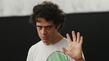 Ben Winspear in rehearsal for Faustus.
