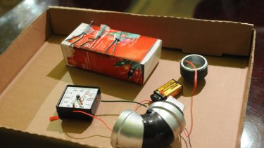 A replica of the bomb terror suspect Jose Pimentel is alleged to have made. Police say they detonated the device in a car to test its power.