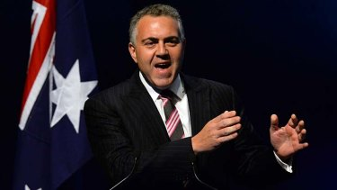 Speaking out: Joe Hockey.