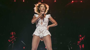 Beyonce performs in Perth.