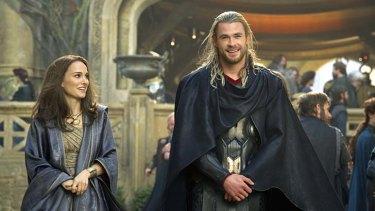 Hammer time: Chris Hemsworth and Natalie Portman team up again.