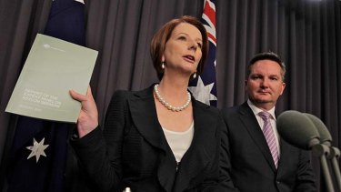 Lost face ... the Prime Minister, Julia Gillard, and the Immigration Minister, Chris Bowen.