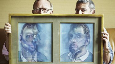 A master's makeover … Bacon's Paris neighbours, art historians Reinhard Hassert (left) and Eddy Batache, with the double portrait Bacon painted of them in 1979.