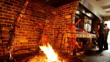 Hot stuff ... the parrilla at Porteno adds heat to the dining experience.
