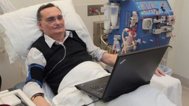 Nicholas Tonti-Filippini during a dialysis session in 2011.