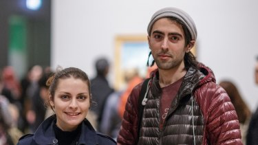 Alycia Prois and Reza Rasouli caught the last viewing.