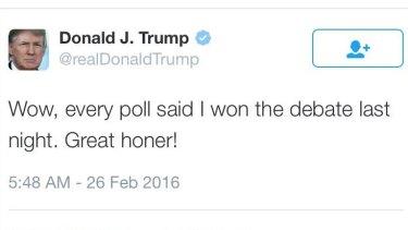 Trump's great 'honor': typo?