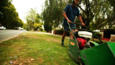 A lawnmowing franchise might suit someone who is happy to be active all day.