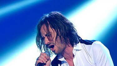 Winner ... Altiyan Childs belts out a number during last night's grand finale.