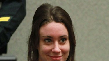 Letting her hair down ... Casey Anthony.