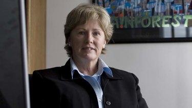 New leader ... Christine Milne.