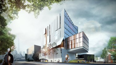 An artist's impression of the new Melbourne Conservatorium planned for Southbank.