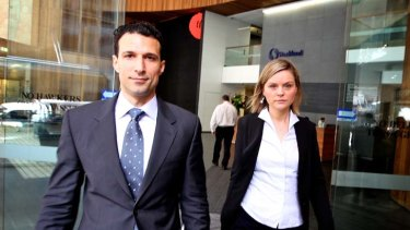 Trip questioned... Charif Kazal and his wife, Agnes, leave the ICAC.