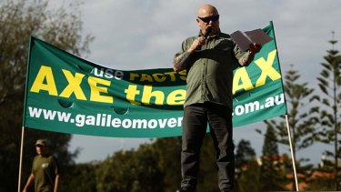Gary 'Angry' Anderson campaigns against the carbon tax.
