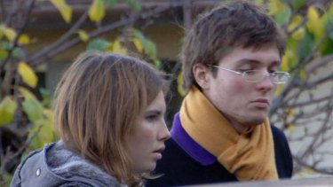 Lengthy court drama ... A file photo from 2007 shows American exchange student Amanda Knox, left, and her Italian boyfriend Raffaele Sollecito outside the rented house where 21-year-old British student Meredith Kercher was found dead in Perugia, Italy.